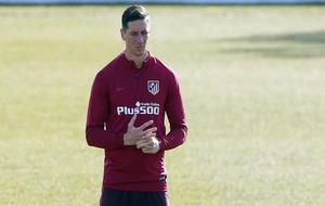Fernando Torres durante el entrenamiento en Majadahonda