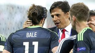 Bale y Coleman durante la Eurocopa de Francia 2016