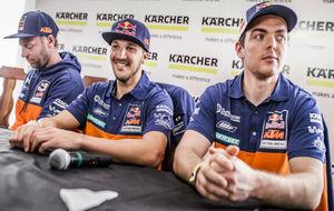 Los pilotos de KTM: Alex Doringer, Sam Sunderland y Matthias Walkner