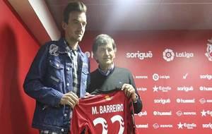 El presidente Andreu junto a Manu Barreiro el día de su presentación
