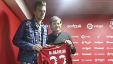 El presidente Andreu junto a Manu Barreiro el d�a de su presentaci�n