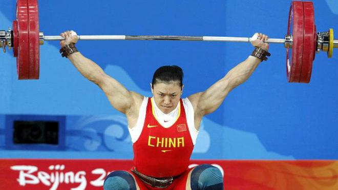 Lei Cao en los Juegos Olímpicos de Pekín en 2008.