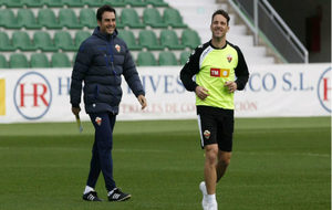 Albacar, junto a Alberto Toril, durante una sesión de entrenamiento...