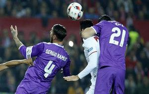 Ramos y Morata, dos de los siete espa�oles del Madrid en el once...