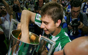 Joaqu�n, celebrando la Copa del Rey de 2005