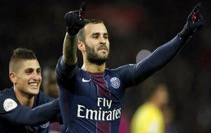 Jesé celebra un gol con el PSG.