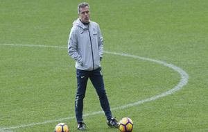 Fran Escrib� durante el entrenamiento del Villarreal