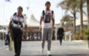 Alonso, durante el GP de Abu Dabi