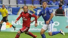 Nino, el a�o pasado en el Carlos Tartiere con Osasuna