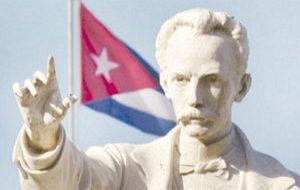 El prócer independentista José Martí
