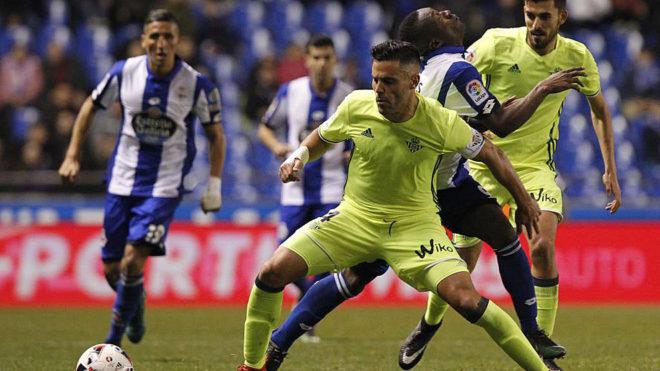 Una imagen del Deportivo-Betis, partido en el que ocurrió el...