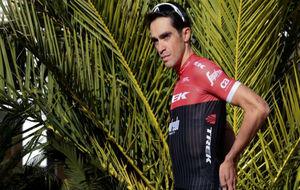 Alberto Contador, durante un entrenamiento este viernes en Mallorca.