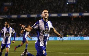 Andone celebra un gol marcado ante la Real Sociedad.