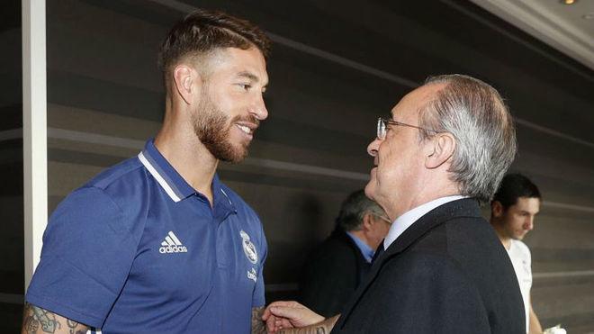 Ramos y Florentino, durante el Mundial de Clubes en Japón