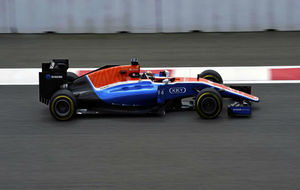Pascal Wehrlein con el Manor, durante la pasada temporada