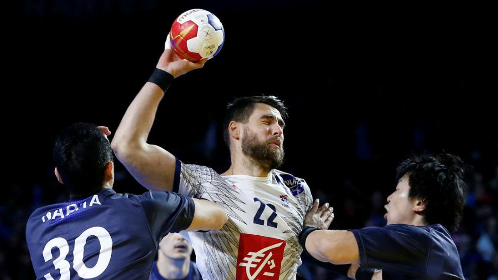 Luka Karabatic, en el partido de Francia ante Japón.