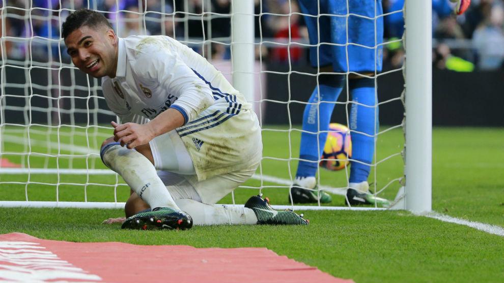 Casemiro, tras el gol marcado al Granada.