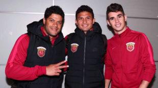 Hulk, Elkeson y Oscar, los tres brasile�os del SIPG