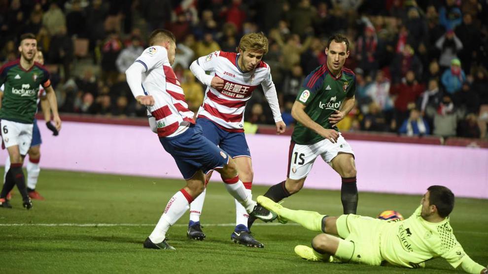 Combate nulo entre Osasuna y Granada, que no pasan del reparto de puntos