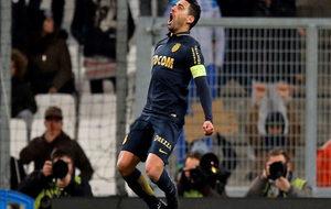 Falcao celebra su gol ante el Olympique de Marsella.