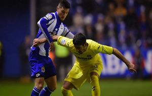 Borja Valle durante el último partido de liga del Dépor contra el...