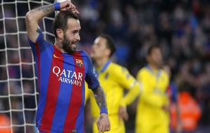 Aleix Vidal celebra el gol que metió a Las Palmas