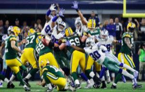 Un momento del encuentro entre Packers y Dallas Cowboys