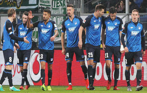 Los jugadores del Hoffenheim durante un partido de la Bundesliga