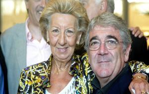 María Bosch, con Dani Sánchez Llibre, en 2005