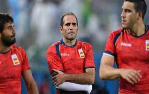 Pablo Feijóo, el nuevo seleccionador, lesionado en los pasados Juegos...