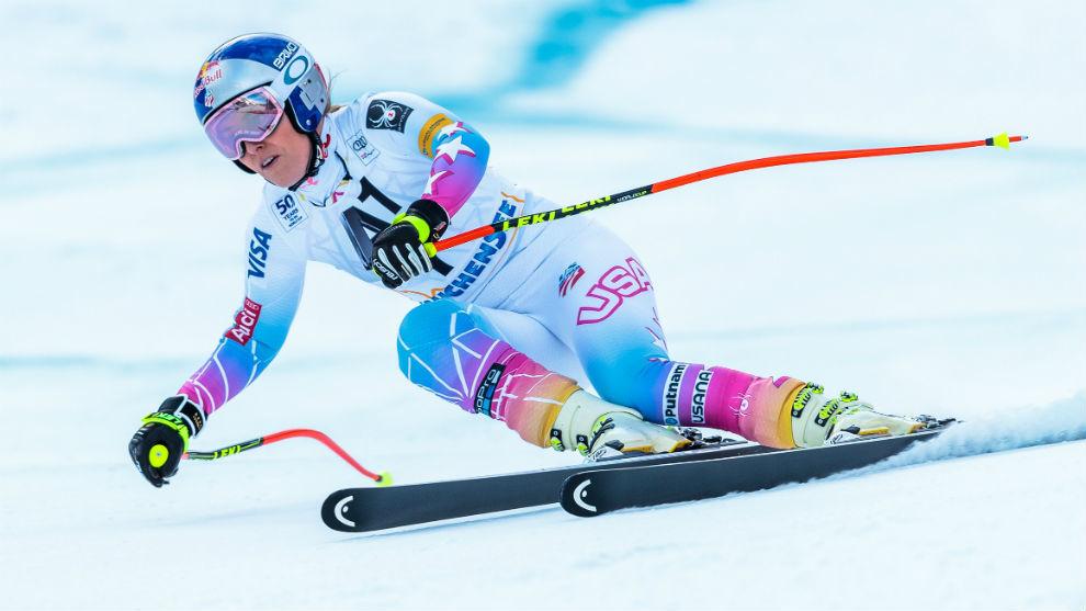 Lindsey Vonn, en el descenso de Altenmarkt.