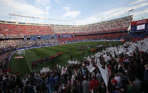 Grada del Vicente Calderón durante un partido de esta temporada.