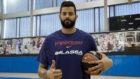 Vitor Faverani ya posa con la camiseta del Barcelona Lassa