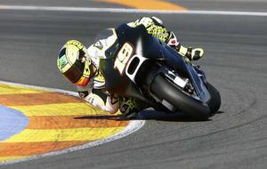 Bautista, con la Ducati durante los test de pretemporada.