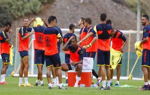 Sesión de entrenamiento del club.