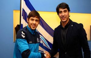 Óscar Romero junto al director deportivo alavesista, Sergio...