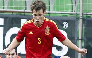 Alex Grimaldo, con las inferiores de la selección española.