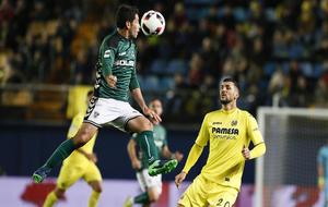 Israel Castro, en el partido de Copa ante el Villarreal.