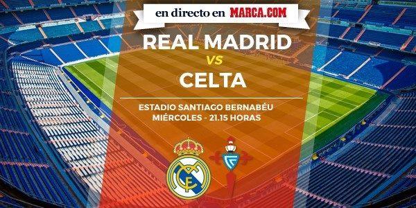 Real Madrid vs Celta en directo