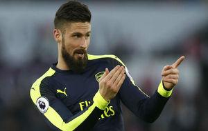 Giroud, en un partido con el Arsenal.