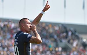 Nicolás Castillo, celebrando el gol de la victoria ante Cruz Azul.