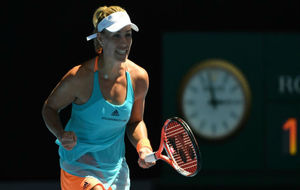 Angelique Kerber celebra una victoria en el Open de Australia.