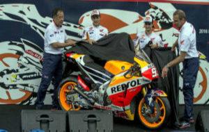 Nakamoto, Márquez, Pedrosa y Suppo descubre la moto de 2016 en...
