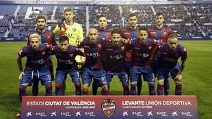 El primer once titular del Levante en el presente 2017, ante el Lugo