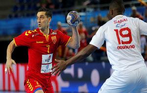 Lazarov, en el partido del Mundial entre Macedonia y Túnez.