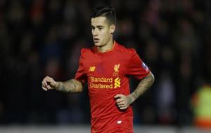Coutinho, durante un partido con el Liverpool.