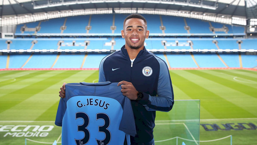 Gabriel Jesús luce con los colores del City en su nuevo estadio, el...