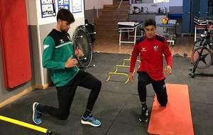 Vinícius Araujo ya trabajó este miércoles en el gimnasio con sus...