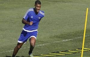 Eddy Silvestre, durante un entrenamiento en la Ciudad Deportiva de El...