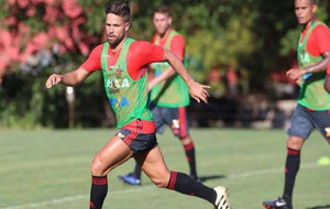 Diego Ribas en un entrenamiento con su club, el Flamengo.